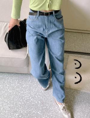 Deneau wide denim pants