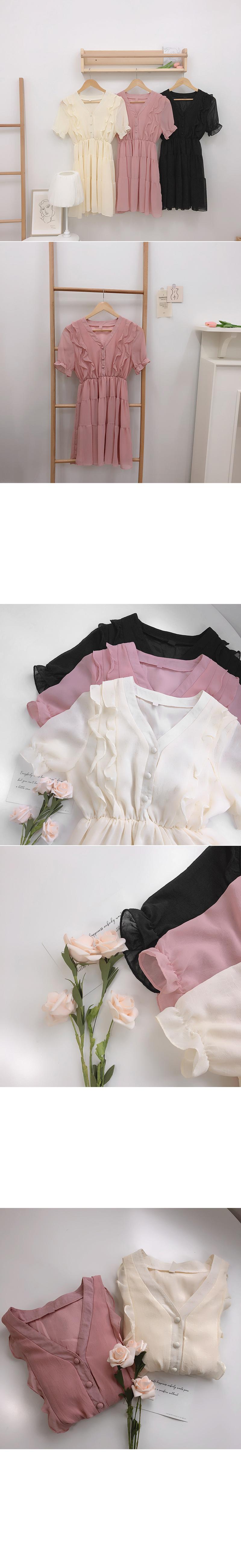 Chari frilled cancan Dress