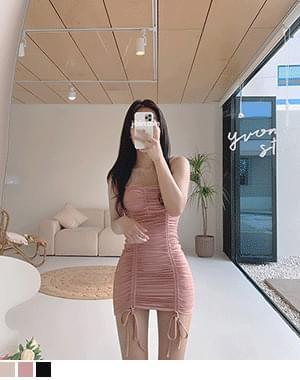 Paul Shirring Dress Monokini Bikini