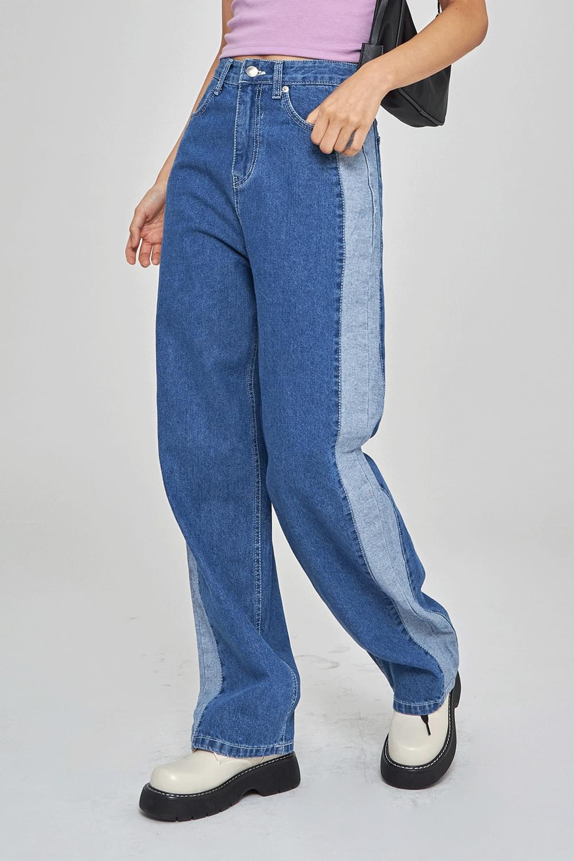 Side point denim Pants