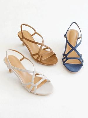 Charm line slingback sandals 6cm