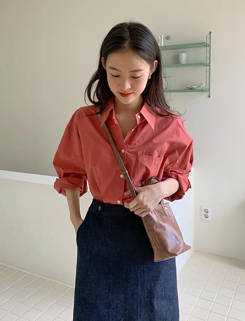 Mood color basic cotton shirt