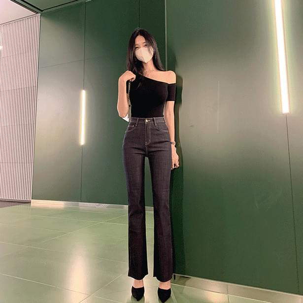 Rossi Raw slit Flared pants (Delayed delivery)