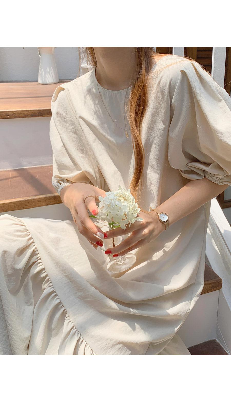 Bennet Bath Rock Puff Over Fit Long Dress