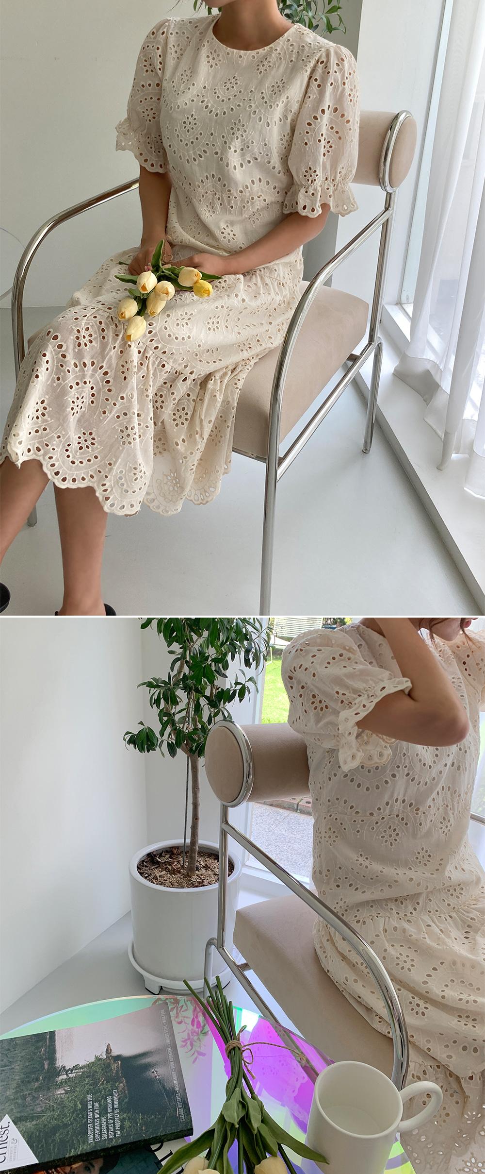 lace punching Dress