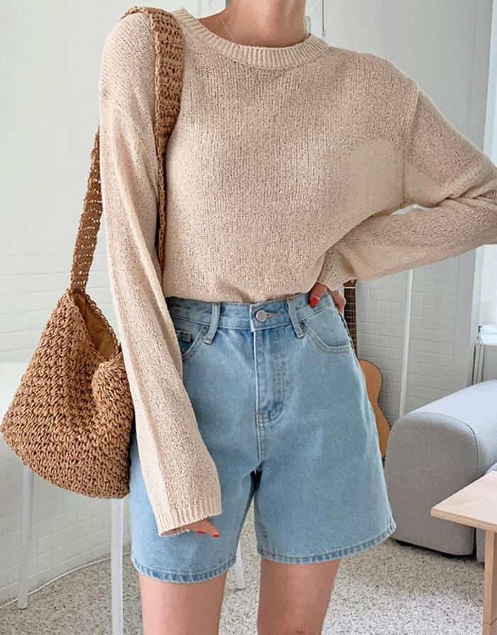 Raina Round Basic Bookle Knitwear