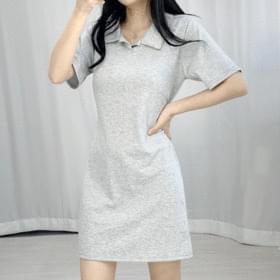 Chuu Back Ribbon Collar Dress