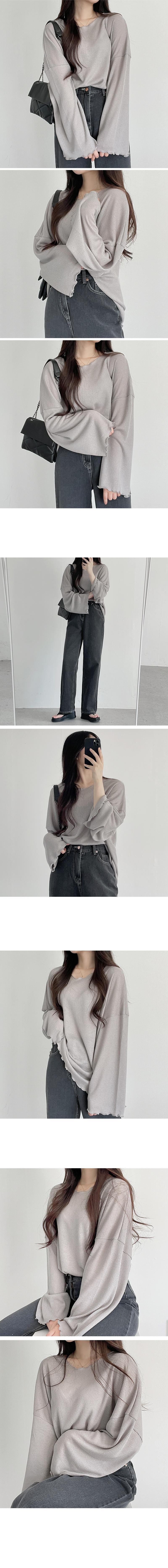 Stitch Point Wide Denim Pants