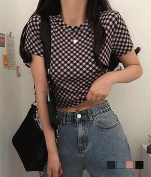 Kiko Check Short Sleeve T-shirt