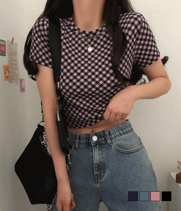 Kiko Check Short Sleeve T-shirt 短袖上衣