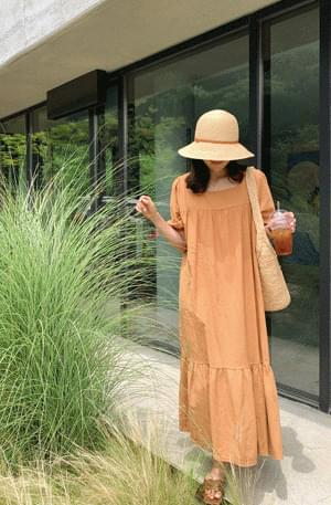 Heidi Square Neck Shirring Dress