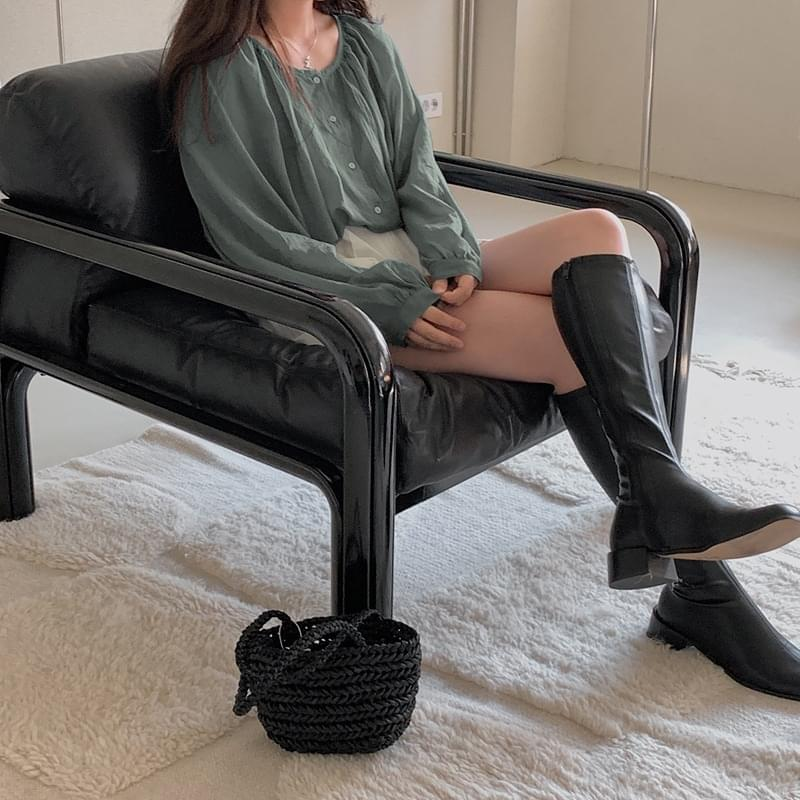 Mysteel Knee High Leather Long Boots - 2 color