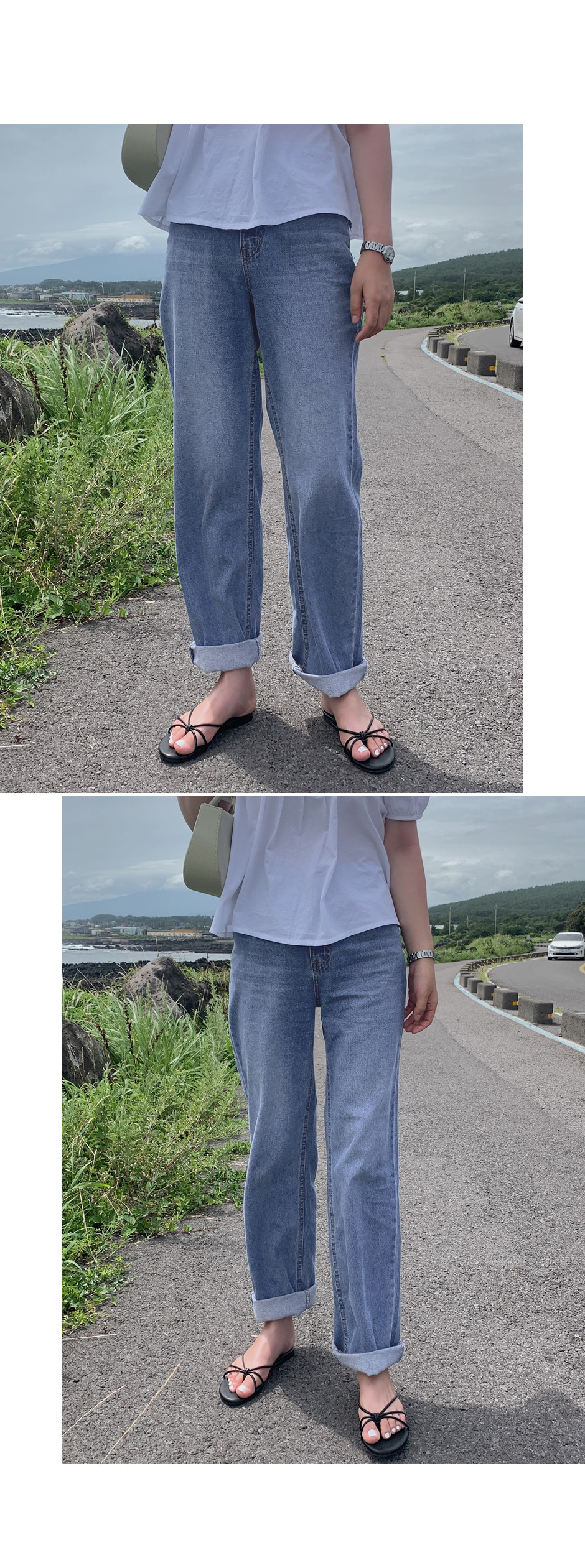 Breather Date Wide Long Denim Pants - 1 color