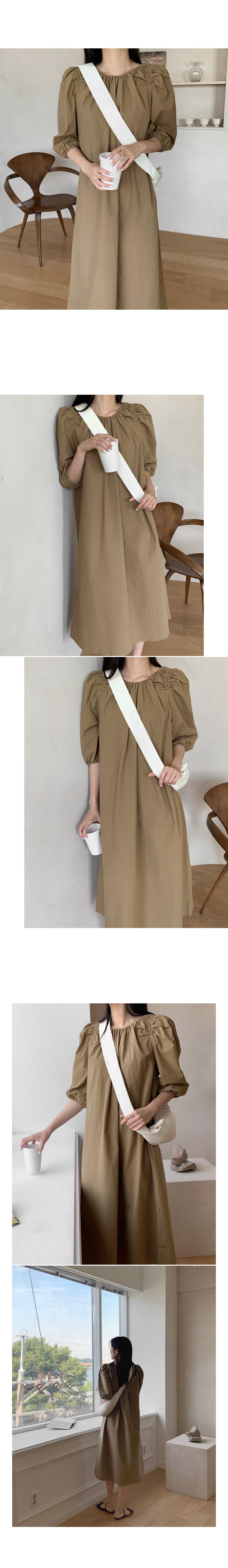 Buron Shirring Strap Long Dress - 2 color