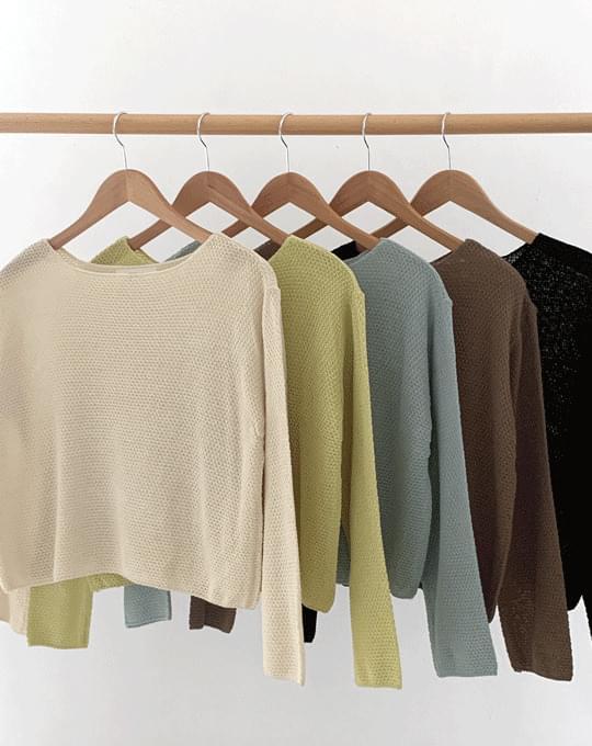 Lima Boat Neck Weave Knitwear - 5 color