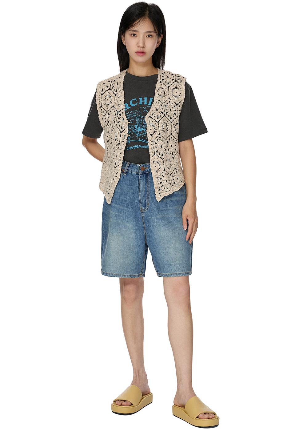 Hopper Vintage Crochet Vest