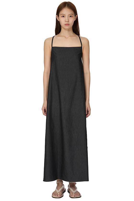 Denim Bag Cross Long Dress