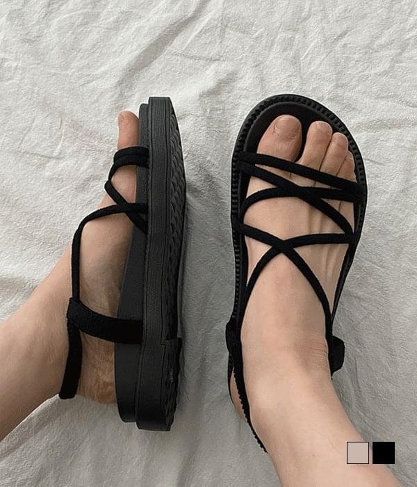 Glam Soft X-Shape Banding Strap Sandals