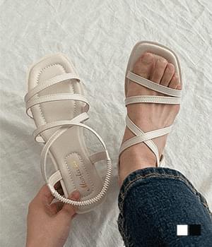 milk banding strap sandals