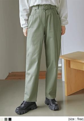 VILCO BELT BAGGY COTTON PANTS