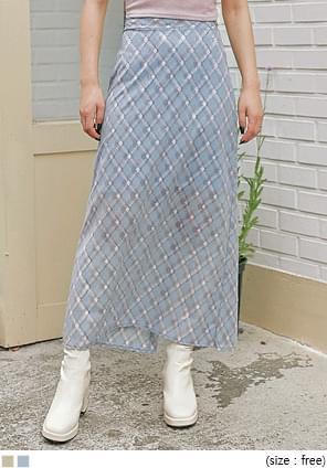Slit Back Hem Long Skirt