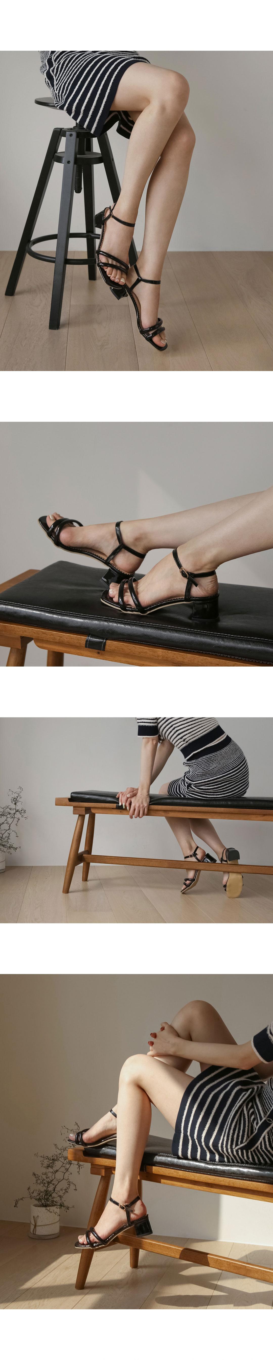 Blier Whole Heel Strap Sandal Heel SDEMS2d171