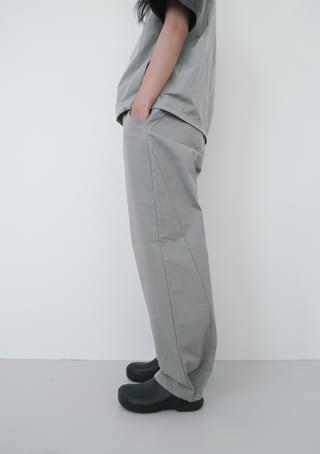 snap pot cotton pants (2colors)
