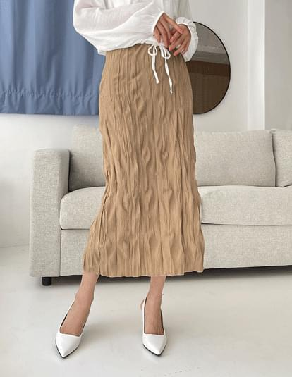 minu pleated banding skirt