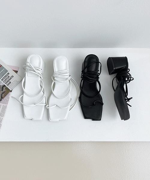 Lucia Strap Sandals - 2color