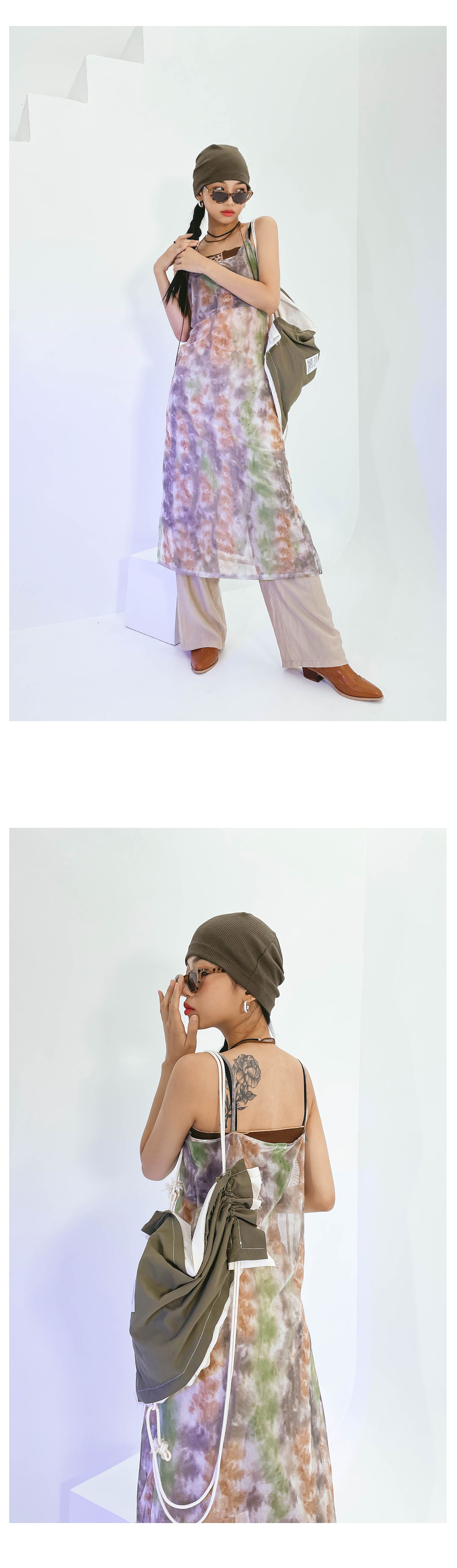 tie-dye see-through Dress