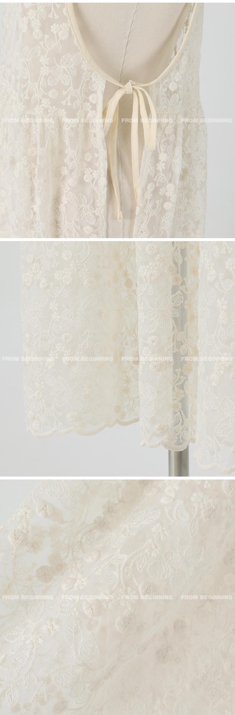 Layered lace bustier Dress