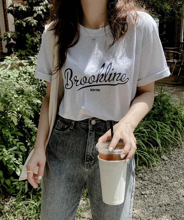 브루클린 코튼 티셔츠