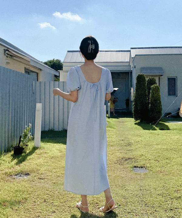 Date Cotton Long Dress