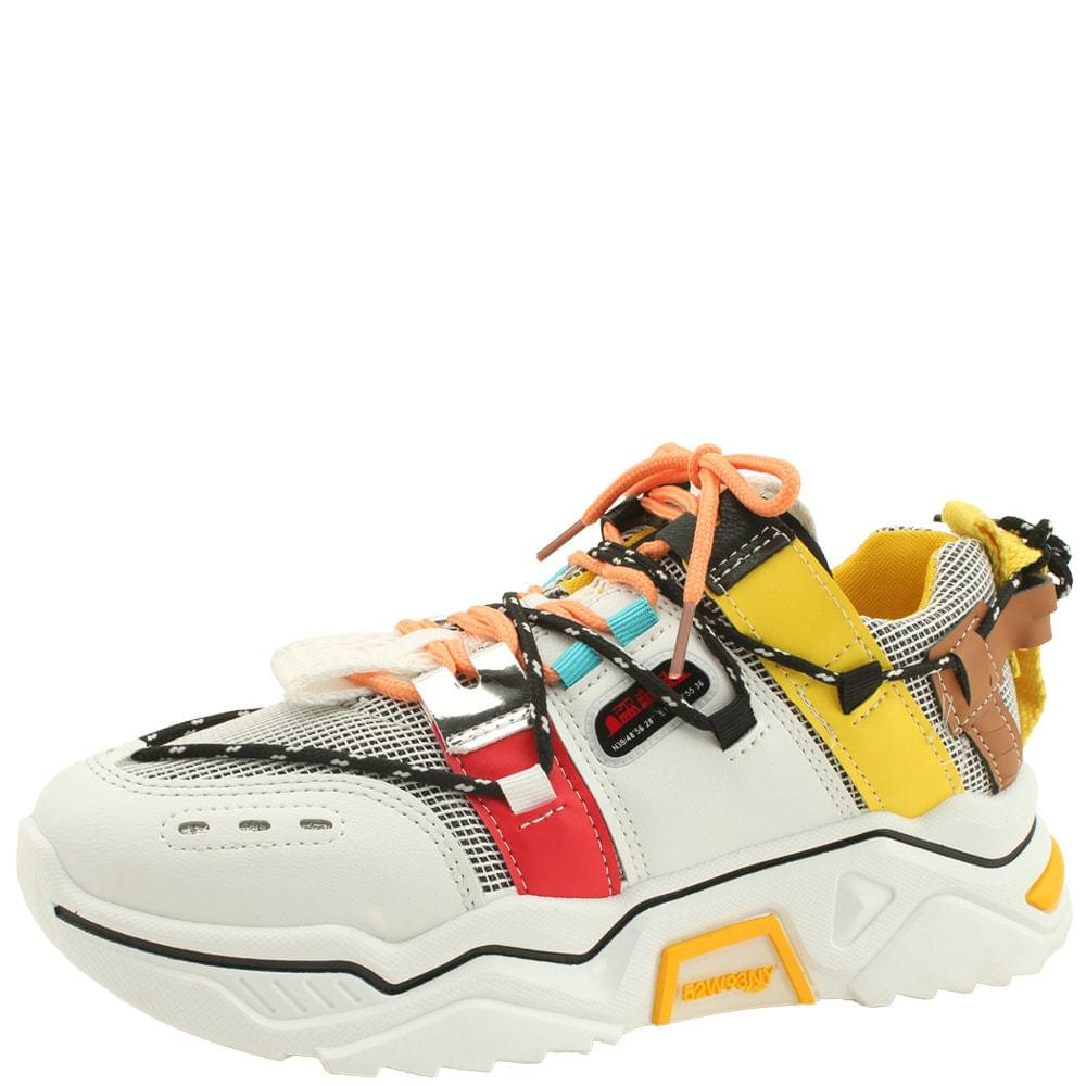 casual rope strap sneakers yellow