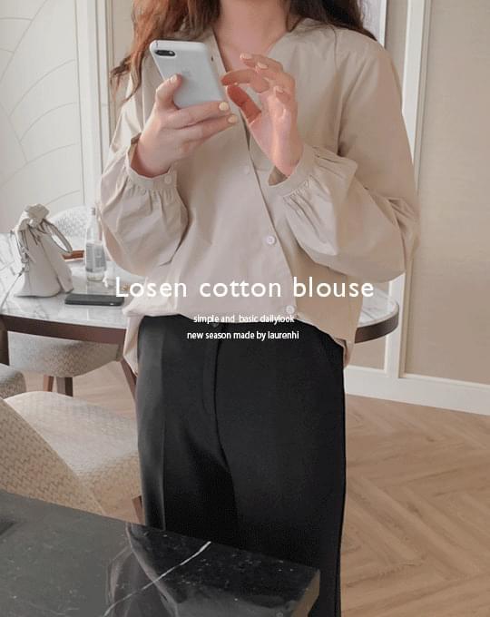 Rosen Cotton Oblique Blouse - 4 color