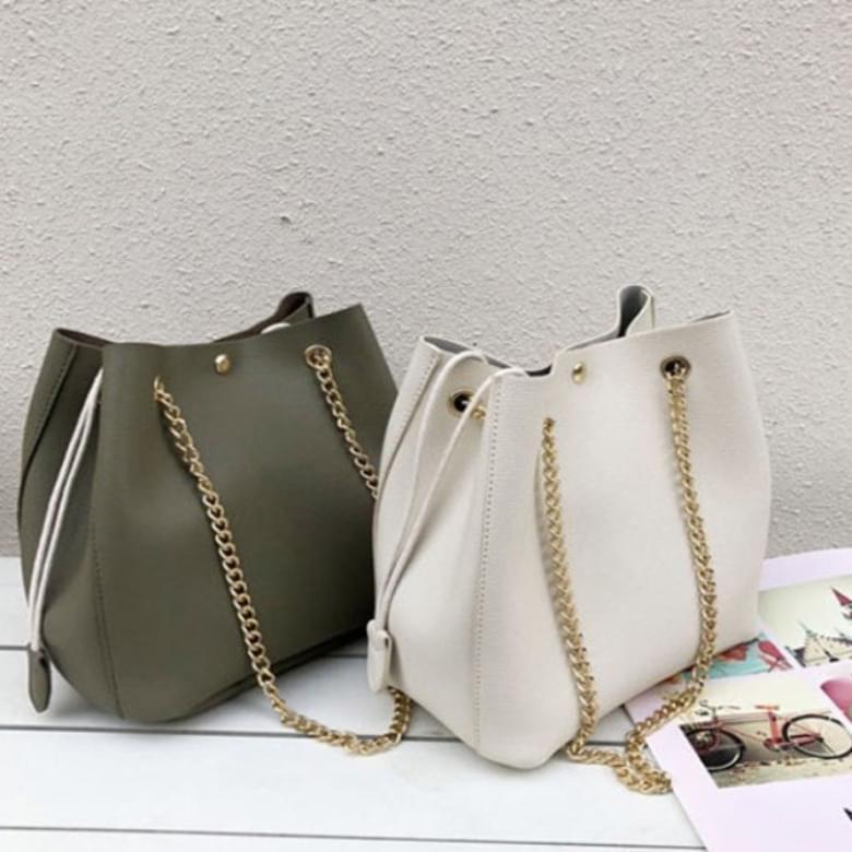 Jurier Simple Chain Bokjori Shoulder Bag