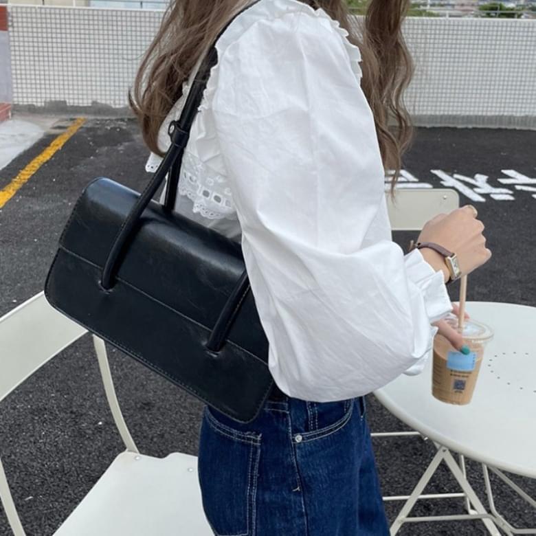 Jenin color square line shoulder bag