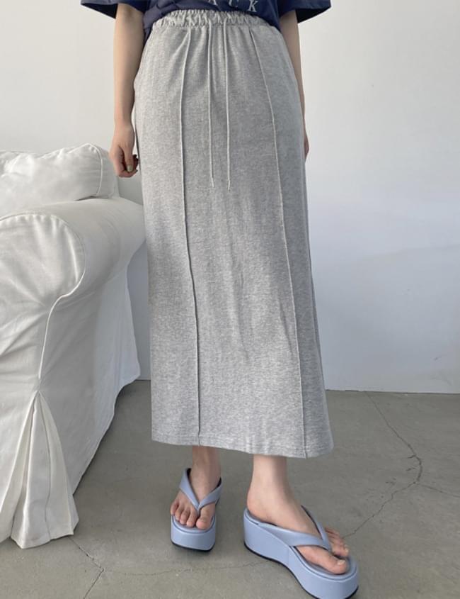 pintuck maxi training skirt