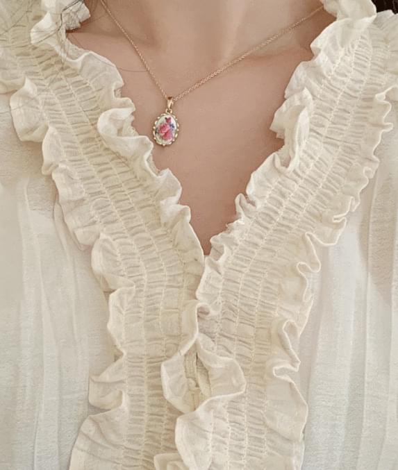 프린즈 blouse 핑크만 있음