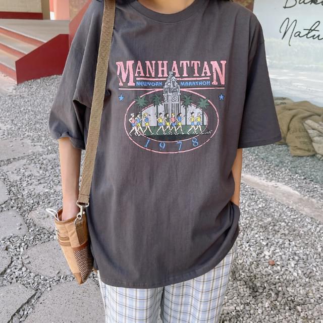 Manhattan Loose-fit Printed T-shirt