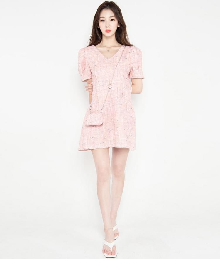 Mini Bag Tweed Dress Set