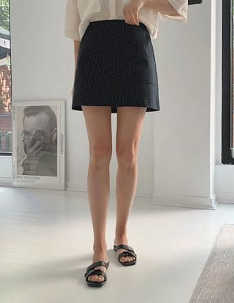 De Beret * A-line pocket mini skirt