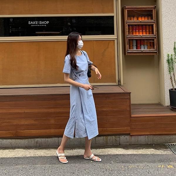 Lootti*Linen Wrap Dress