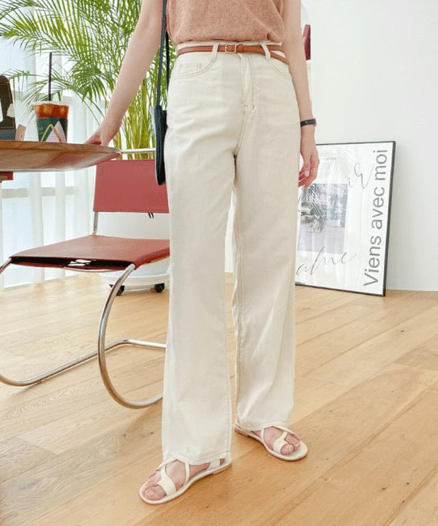 Big 26-32 Inch Bella Vivid Wide Linen Pants