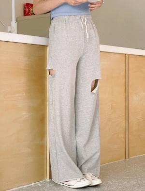 Loha Damage Slit Banding Pants