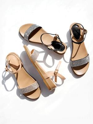 Femme Muse Wedge Strap Sandals 3cm
