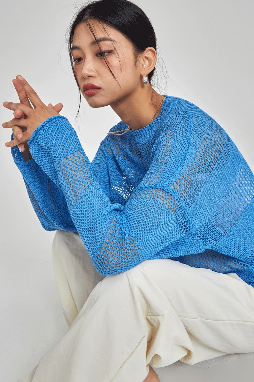 Stripe side slit Knit