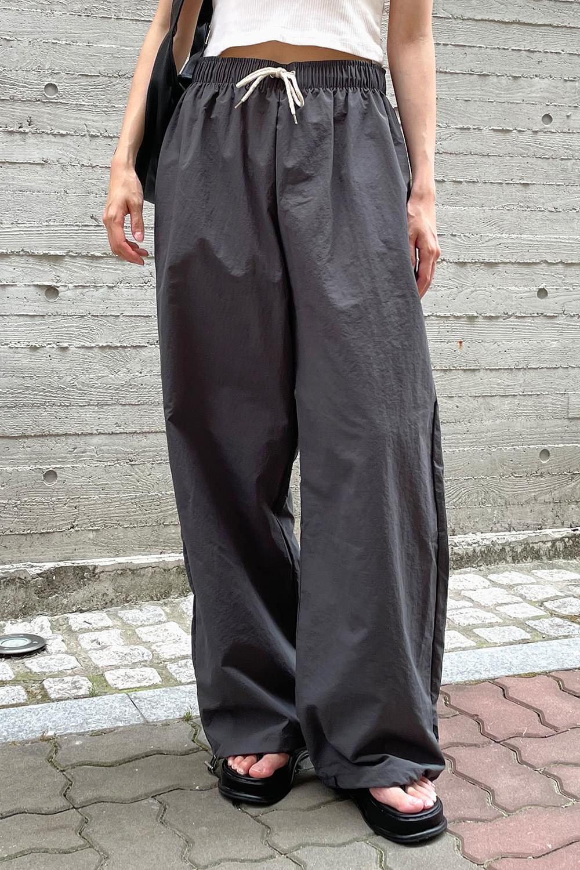 (UNISEX) Basic wide string Pants