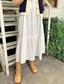 lace button bustier Dress
