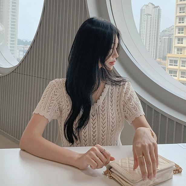 레버린펀칭물결 knit (코튼100) (인기상품 배송지연)